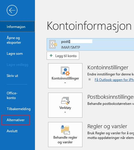 Outlook alternativer